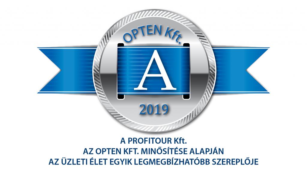 A Profitour Kft. az Opten Kft. minősítése alapján az üzleti élet egyik legmegbízhatóbb szereplője